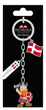 CHARM KEYRING VIKING/FLAG (6)