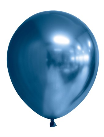 "BALLOONS 12"" MIRROR BLUE 6-P (6)"