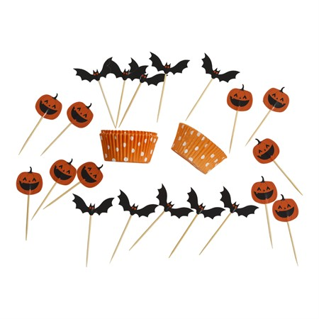 CUP CAKE KIT HALLOWEEN 20 SET