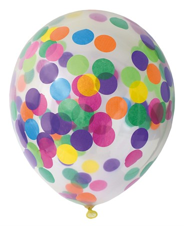 BALLOONS CONFETTI MIX 6-PACK (6)