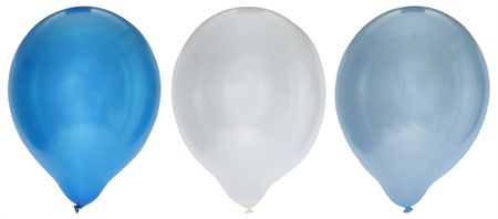 "BALLOONS 12"" METALLIC BLUE MIX 8-PACK (6)"