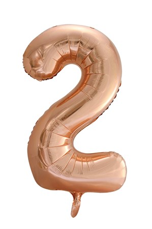 FOIL BALLOON NUMBER 2 ROSE GOLD 86 CM (6)