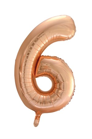 FOIL BALLOON NUMBER 6 ROSE GOLD 86 CM (6)