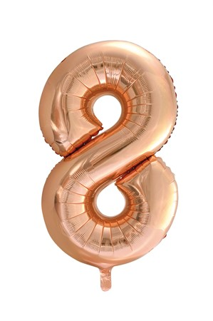 FOIL BALLOON NUMBER 8 ROSE GOLD 86 CM (6)