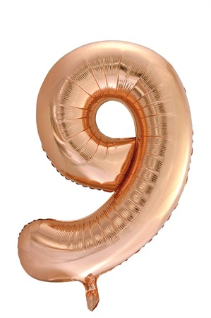 FOIL BALLOON NUMBER 9 ROSE GOLD 86 CM (6)