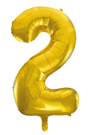 FOIL BALLOON NUMBER 2 GOLD 86 CM (6)