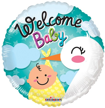 FOIL BALLOON WELCOME BABY STORK 46 CM (6)