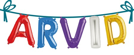 NAME FOIL BALLOONS ARVID