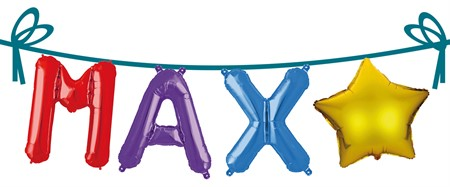 NAME FOIL BALLOONS MAX