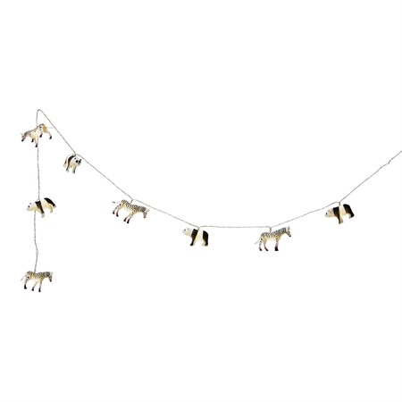 STRING LIGHT PANDA ZEBRA