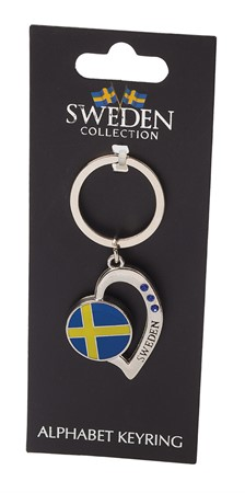 KEYRING SWEDISH FLAG W. PEARLS (6)