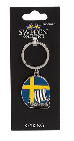 KEYRING SWEDEN SHIP/FLAG (6)