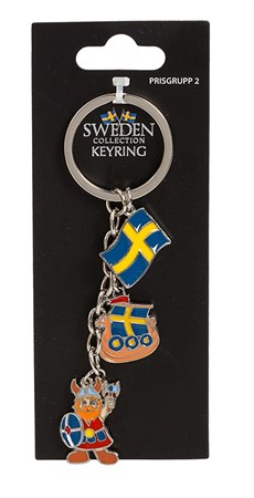 CHARM KEYRING SWEDEN VIKING/FLAG (6)