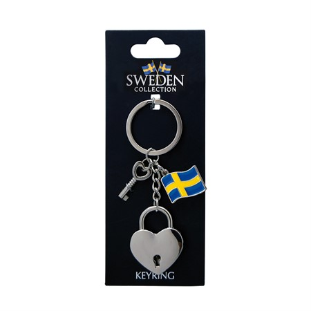 KEYRING SWEDEN 3D HEART LOCKER (6)