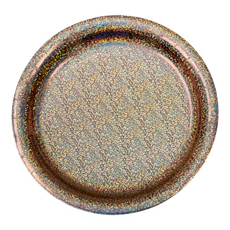 PAPER PLATE HOLOGRAPHIC ROSE GOLD 8-P (6)