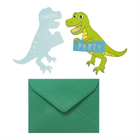 CARDS AND ENVELOPES DINOSAUR 8-P (6)