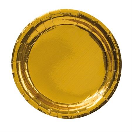 PARTY PAPER PLATE 23 CM GOLD 8-P (6)