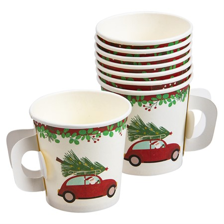 PAPER CUPS 11 CL CHRISTMAS CAR 8-P (6)