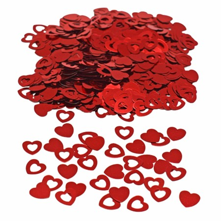 CONFETTI RED HEARTS (6)