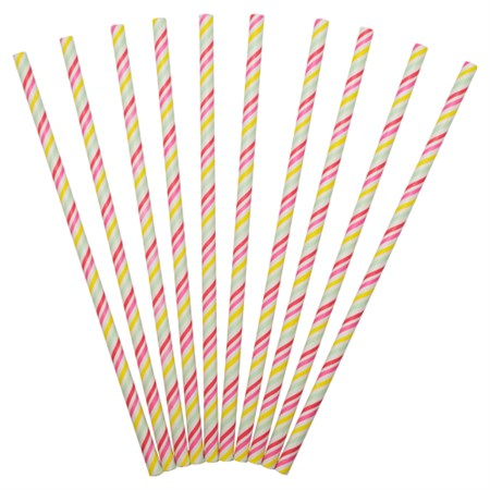 PAPER STRAWS MIXED STRIPES 24-P (12)