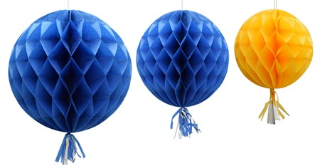 HONEYCOMB BALL WITH TASSEL SWEDEN 3-P (3)