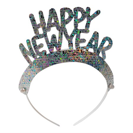 TIARAS HAPPY NEW YEAR HOLOGRAPHIC SILVER 6-P (6)