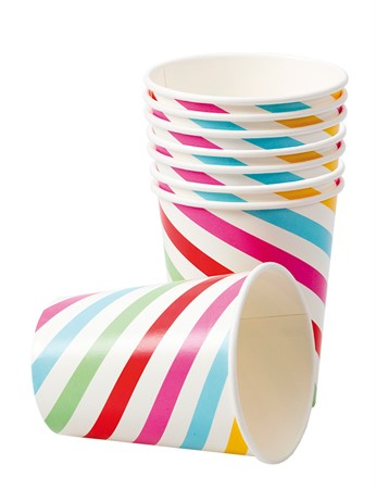 PAPER CUPS MIXED STRIPES 8-P (3)