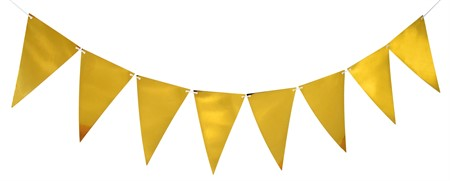 TRIANGLE FLAG BANNER GOLD 3.6 M (6)
