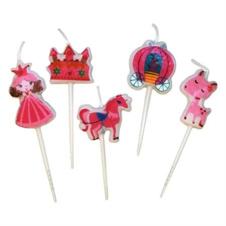 TOOTHPICK CANDLES PRINCESS ITEMS (6)