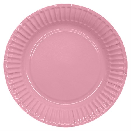 PARTY PAPER PLATE 18,5 CM PINK 8-P (6)