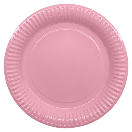 PARTY PAPER PLATE 23,5 CM PINK 8-P (6)