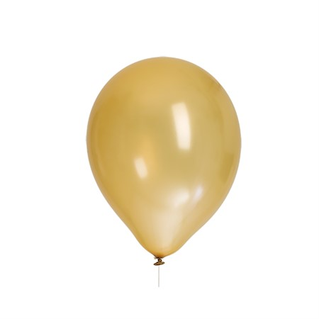 "BALLOONS 12"" GOLD METALLIC 8-P (6)"