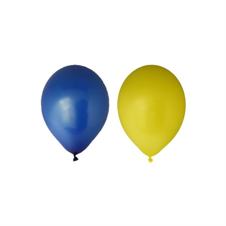 "BALLOONS 12""  BLUE/YELLOW 24-P"