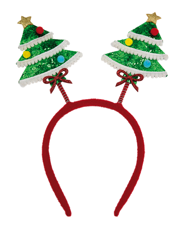 HEADBAND BOPPERS WITH CHRISTMAS TREE (6)