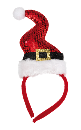 HEADBAND CHRISTMAS HAT RED (6)