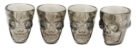 SHOT GLASS SCULL 4-P