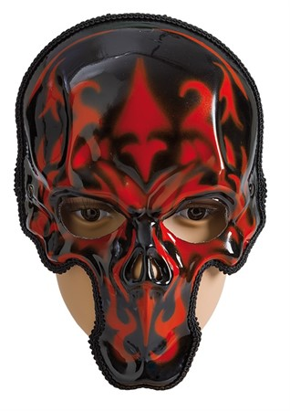 MASK SKULL RED/BLACK WHOLE