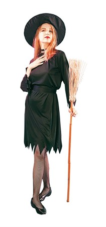 MASKERADDRÄKT BLACK WITCH ADULT