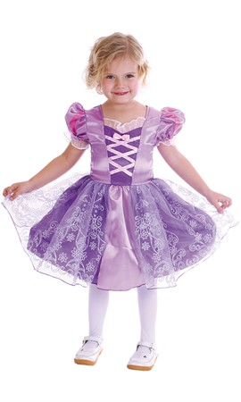 MASKERADDRÄKT PURPLE PRINCESS KID 92-104