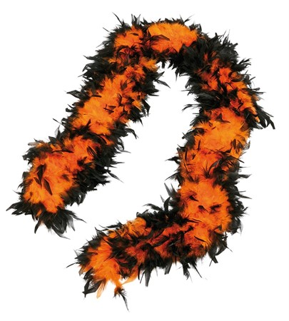 FEATHER BOA ORANGE/BLACK 100G