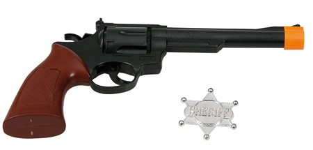 COWBOY REVOLVER AND SHERIFF STAR