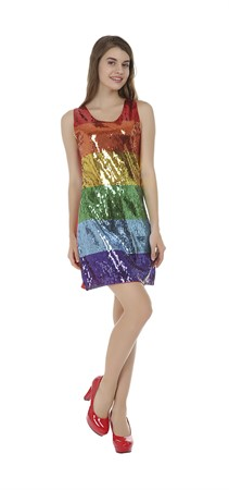 PARTY DRESS RAINBOW, SMALL