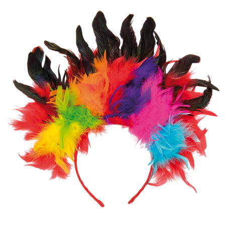 RAINBOW FEATHER HEADBAND