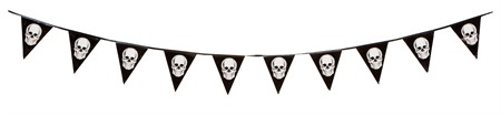HALLOWEEN PLASTIC BANNER W. SCULL 3.6M (6)