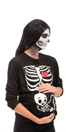 SKELETON PREGNANT T-SHIRT