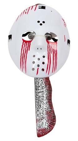 BLOODY JASON MASK W. MACHETE