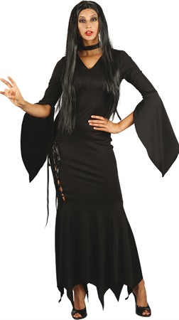 HALLOWEEN LONG BLACK DRESS