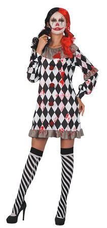 CREEPY CLOWN GIRL ADULT