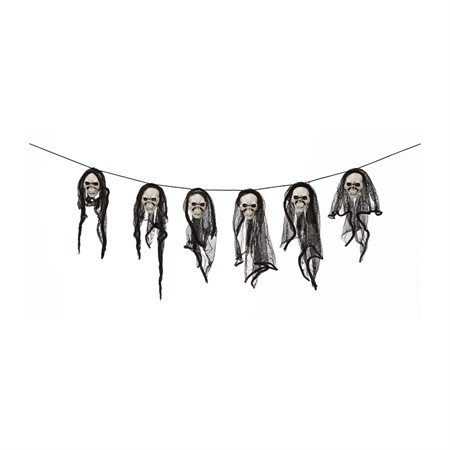 SCULL GARLAND 150 CM