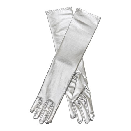 LONG SILVER GLOVES (6)